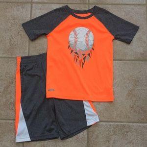 Jumping Beans Boys Baseball ⚾️ Tee Shirt & Shorts